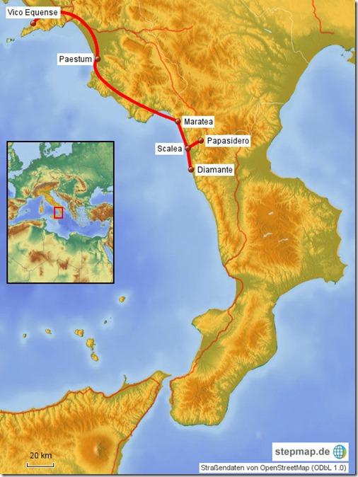 Karte Riviera dei Cedri